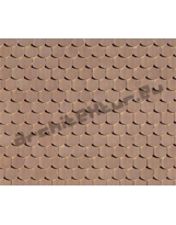 Couverture Tuiles N°10 plates en écailles