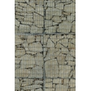 Gabion wall N°08 burgundy stone