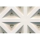 Plasterboard perforated triangle holes