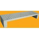 White concrete bench