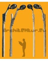 Lampadaire N°30 poteaux bois