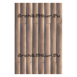 Copper claddding texture