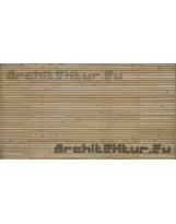 Cladding wood N°04 horizontal blades