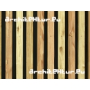 Wood cladding N°11 vertical lathing