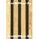 Cladding wood N°03 vertical blades