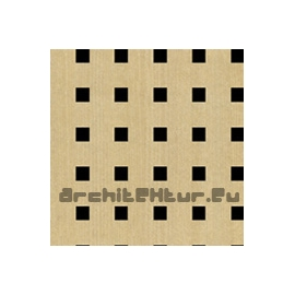Square Perforated Wood