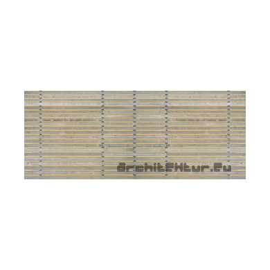 Cladding wood N°02 horizontal blades