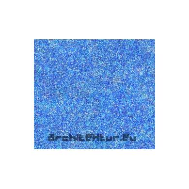 Sol verre pilé bleu