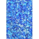 Crushed blue glass ground
